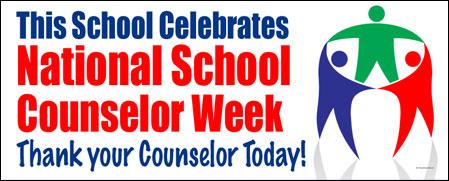 ... > Appreciation Banners > National School Counselor Week Vinyl Banner